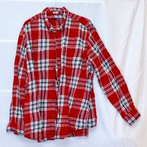Men's Button Down Plaid Shirt